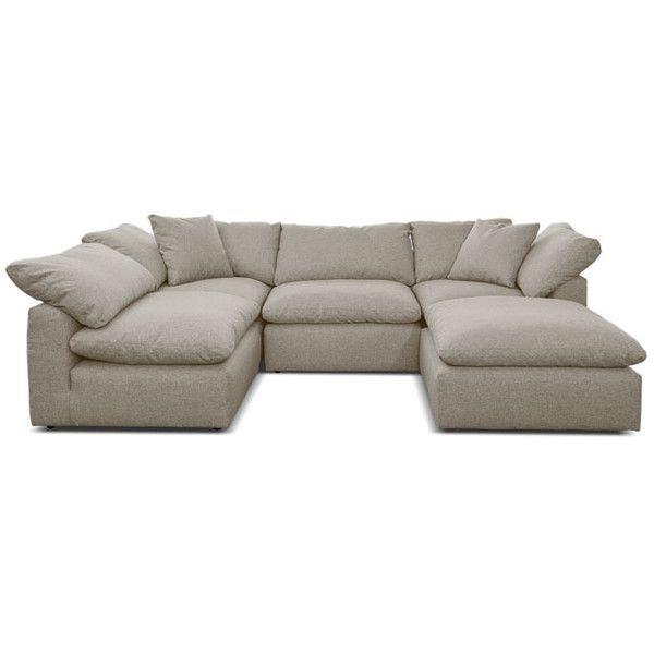 Joybird Bryant Mid Century Modern Beige U Sofa Bumper