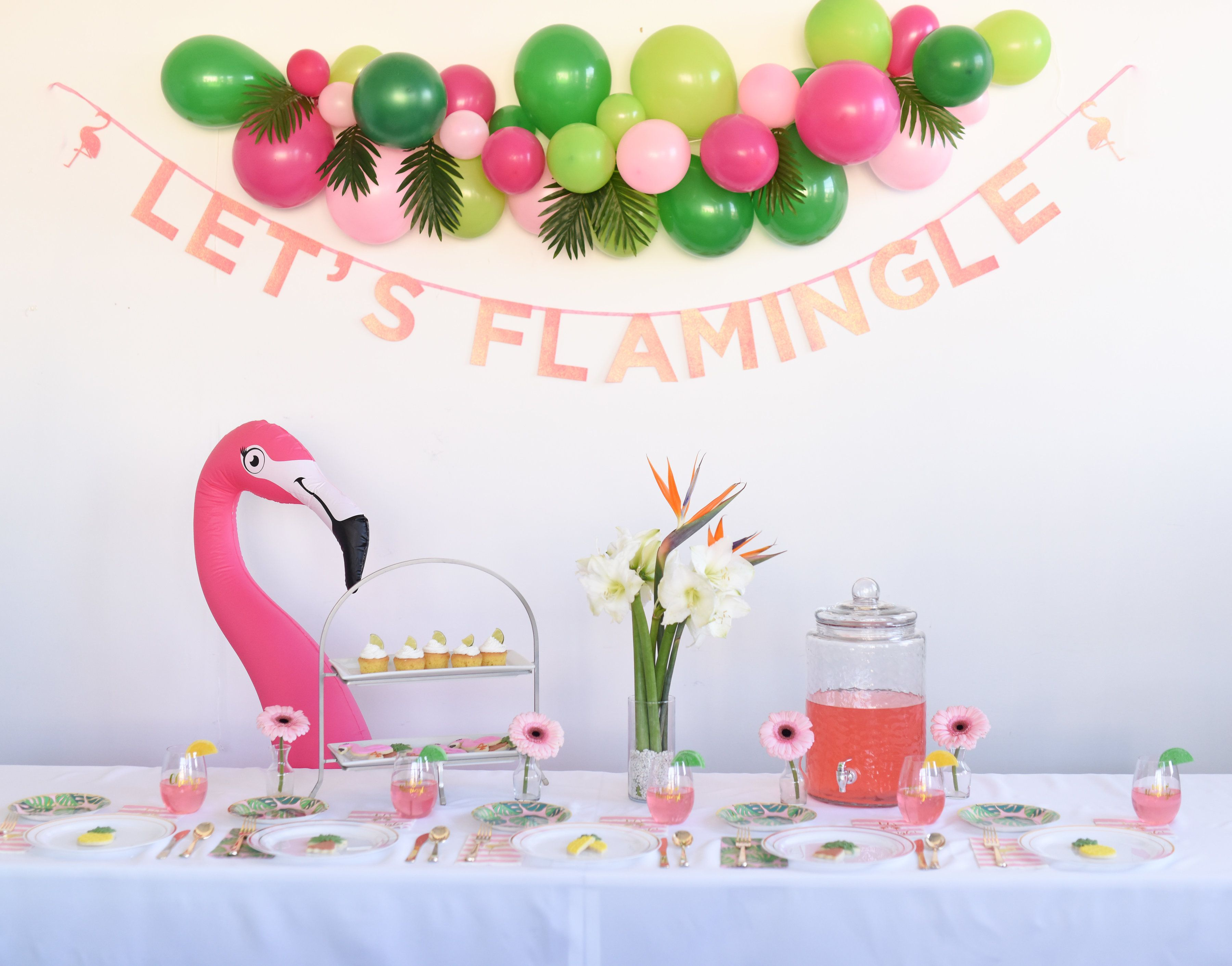 Lets Flamingle Flamingo Party Decorations Celebrated Flamingo Party Decor Flamingle Party Flamingo Themed Party