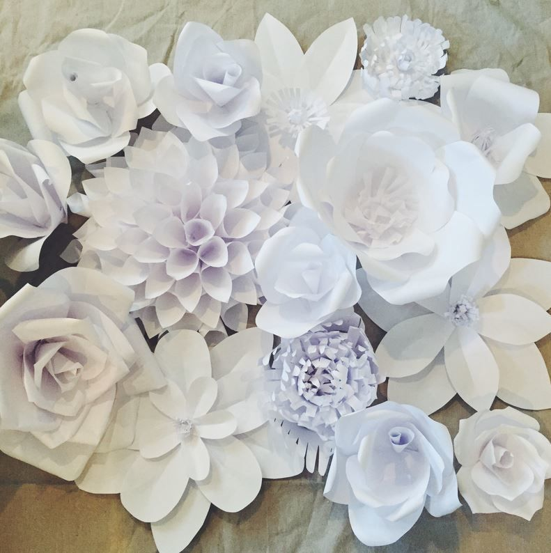 Gorgeous White Paper Flower Backdrop How To Make Paper Flowers