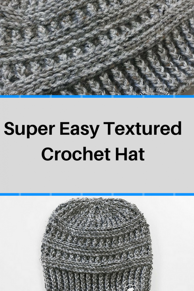Free Pattern] Super Easy Textured Crochet Hat | Gorro tejido, Tejido ...