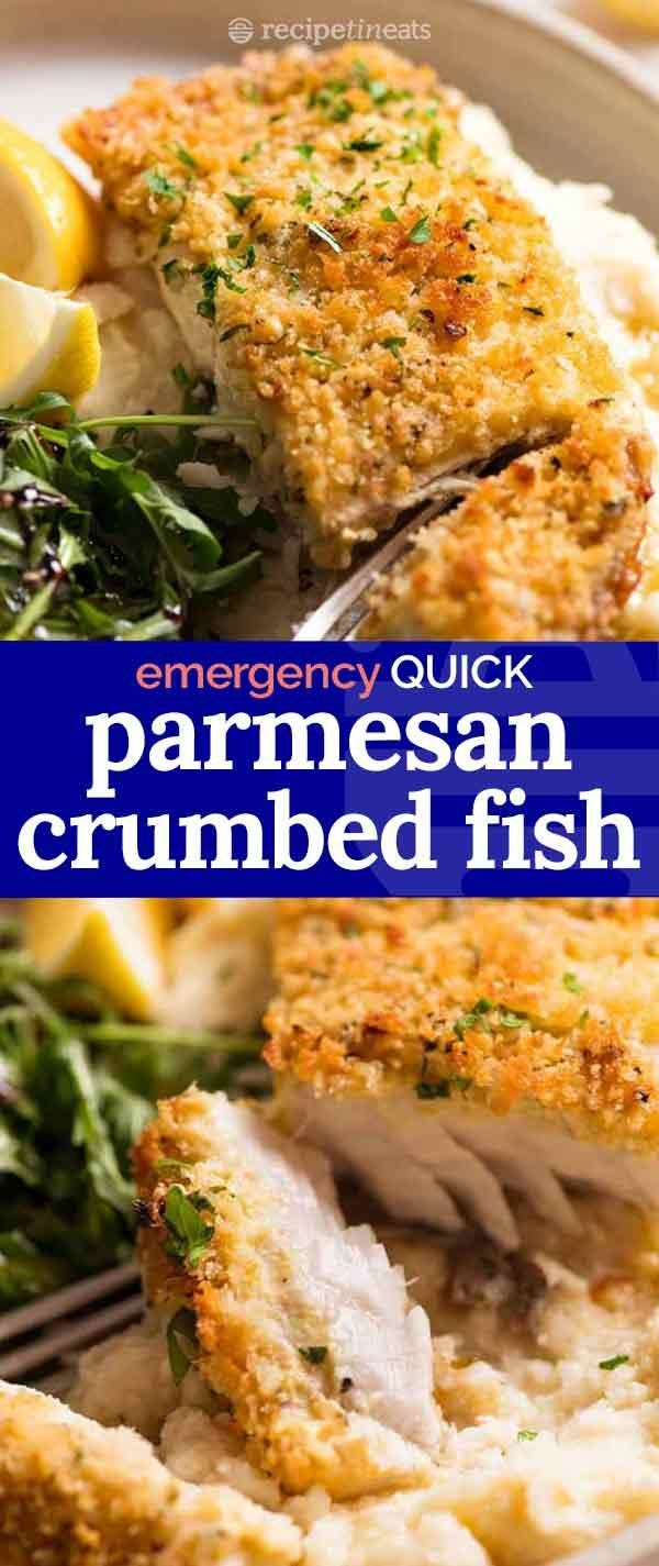 Emergency EASY Fish recipe – Parmesan Crumbed Fish! -  #crumbed #easy #emergency #Fish #parme... #fishmeal