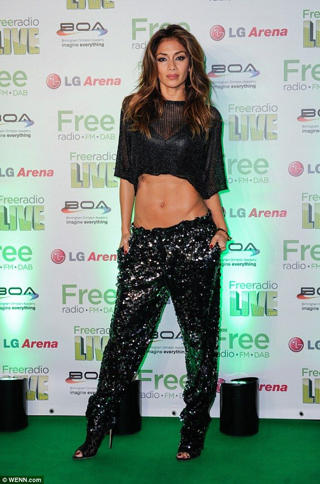 Nicole Scherzinger Shows Off Her Enviably Flat Stomach In Birmingham Black Crop TopsBirminghamFree