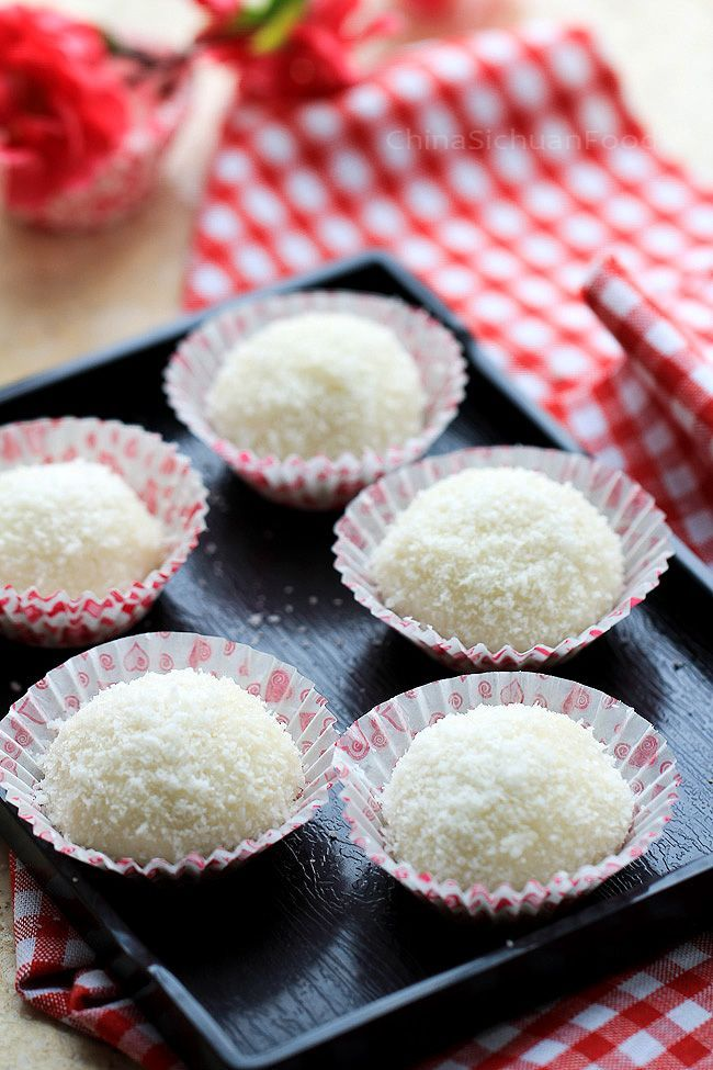 Sticky Rice Balls-Nuomici | Food, Asian desserts, Desserts