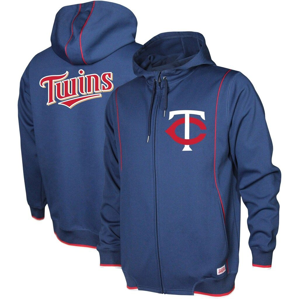 Men S Stitches Navy Minnesota Twins Logo Full Zip Hoodie Full Zip Hoodie Zip Hoodie Hoodies