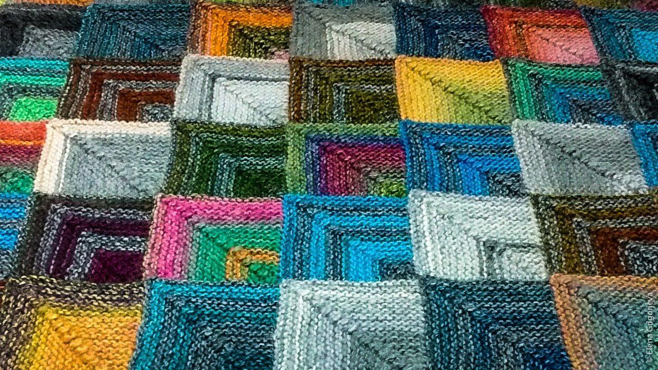 Tuto tricot : couverture bébé ( baby blanket ) | Tricot modulaire, Tricot, Tricoter des carrés