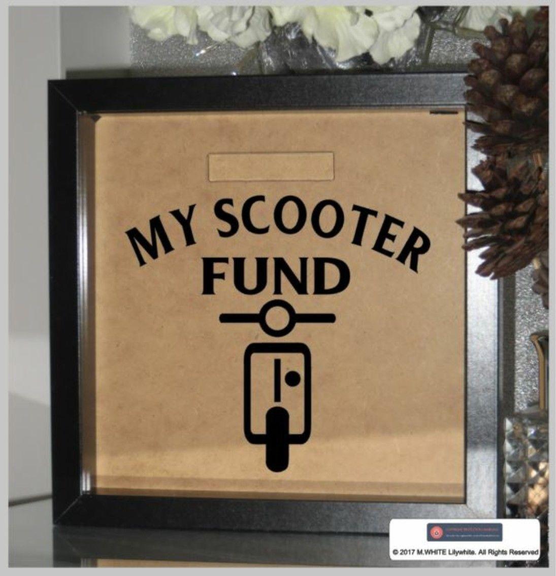 4.99 GBP - My Scooter Fund Sticker - Personalised Money/Fund Box ...
