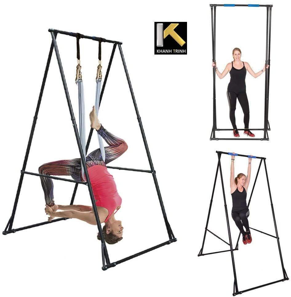 Aerial Yoga Stand Frame Indoor Outdoor In 2020 Aerial Yoga Hammock Yoga Trapeze Yoga Swing