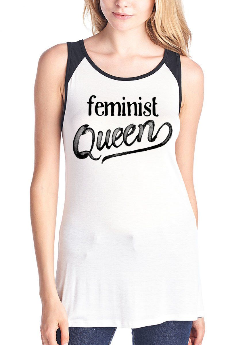 140b98f2a2d5d9 Feminist Queen Color Tank Top  VIVCollection  Fashion  OOTD  Leggings