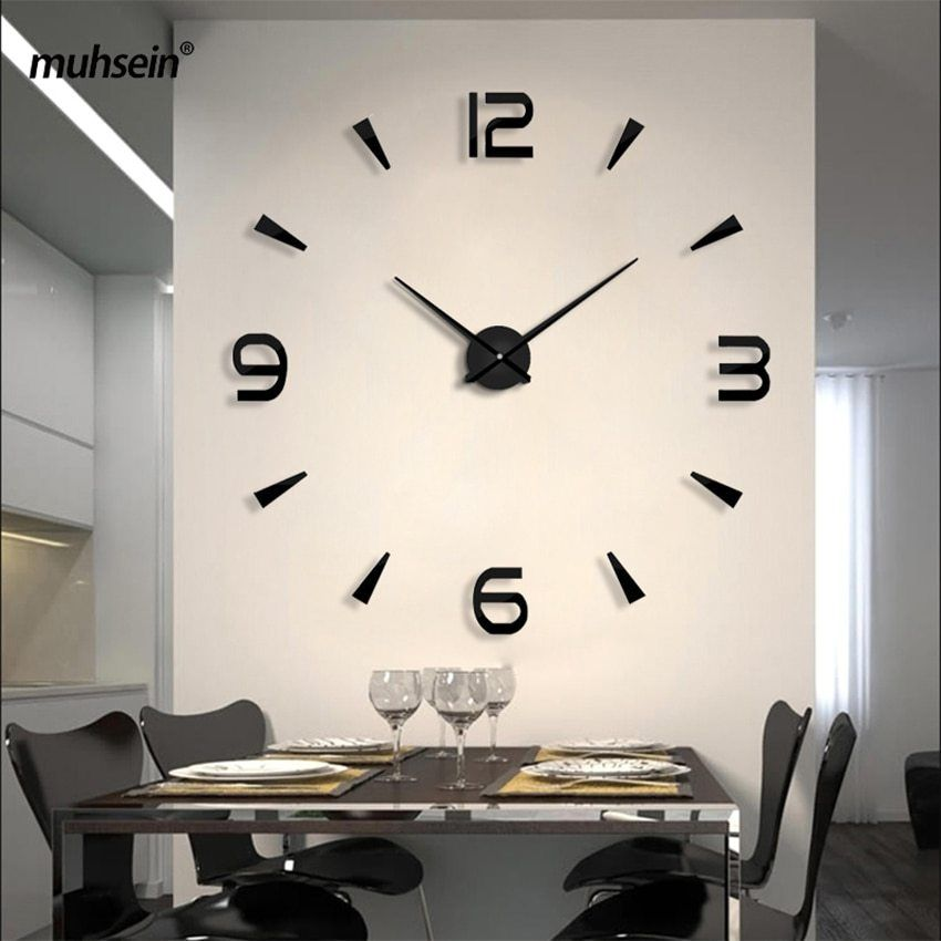 Set Sail 2020 New Wall Clock Acrylic Metal Mirror Big Personalized Decoration Wall Watches 3d Large Wall Clocks Free Shipping In 2020 Large Wall Clock Wall Clock Office Wall Clock