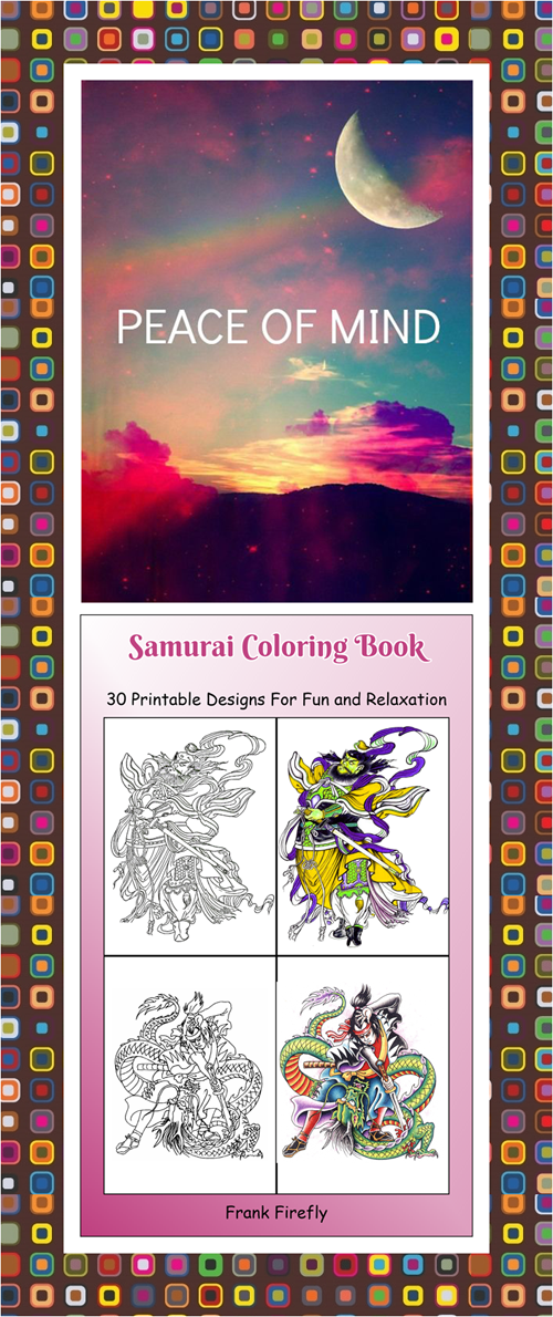 30 High definition coloring pages, black outlines with colored ...