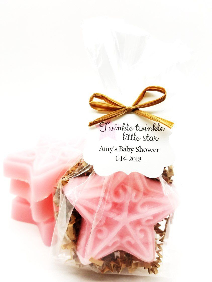 Pink Star Soap Baby Shower Favors with Personalized Twinkle Twinkle ...