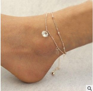 Sexy Gold Beach Anklets multilayer hollow roses Crystal Ankle Bracelet Foot  Jewelry for Women Anklets Bracelet on the Leg 3c1efc8dfb97
