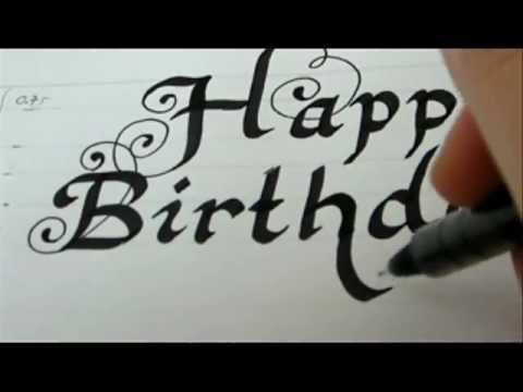 Happy Birthday How To Write Fancy Letters for birthday card – Happy Birthday Cards Youtube