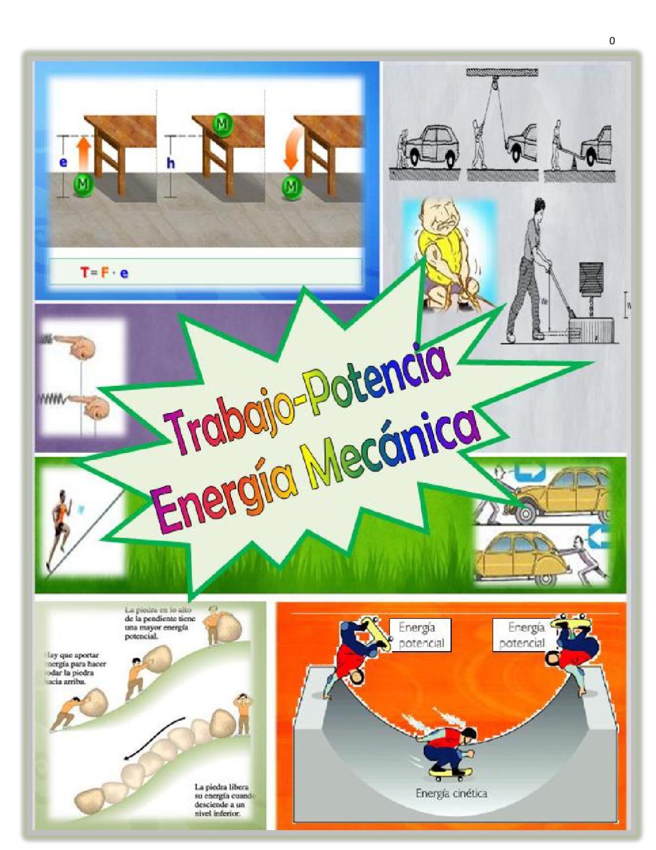 Manual De Problemas De Trabajo Potencia Y Energía Mecánica Energía Problemas Física