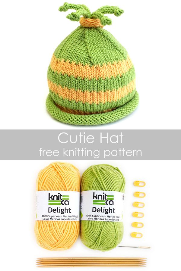 81e9edf86d2 Cutie Hat - free knitting pattern