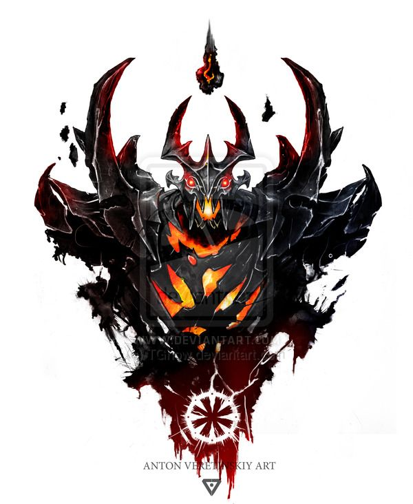 Shadow Fiend Illustration Dota 2 Dota 2 Dota 2 Logo Dota 2