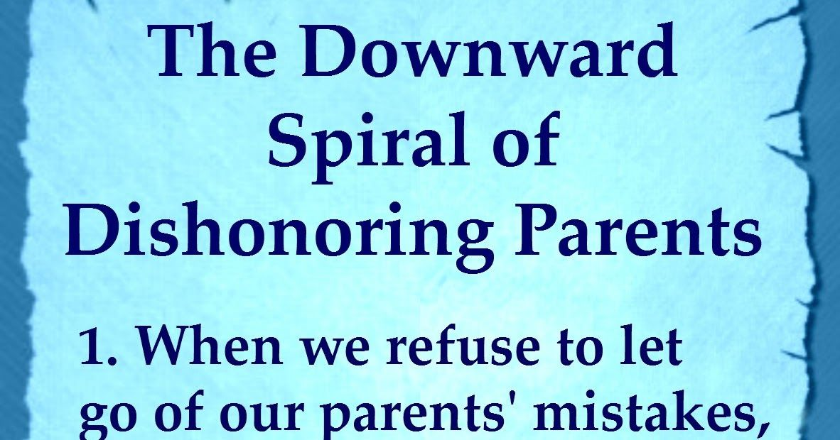 Grow Up! And Start Honoring Your Parents As God Commands