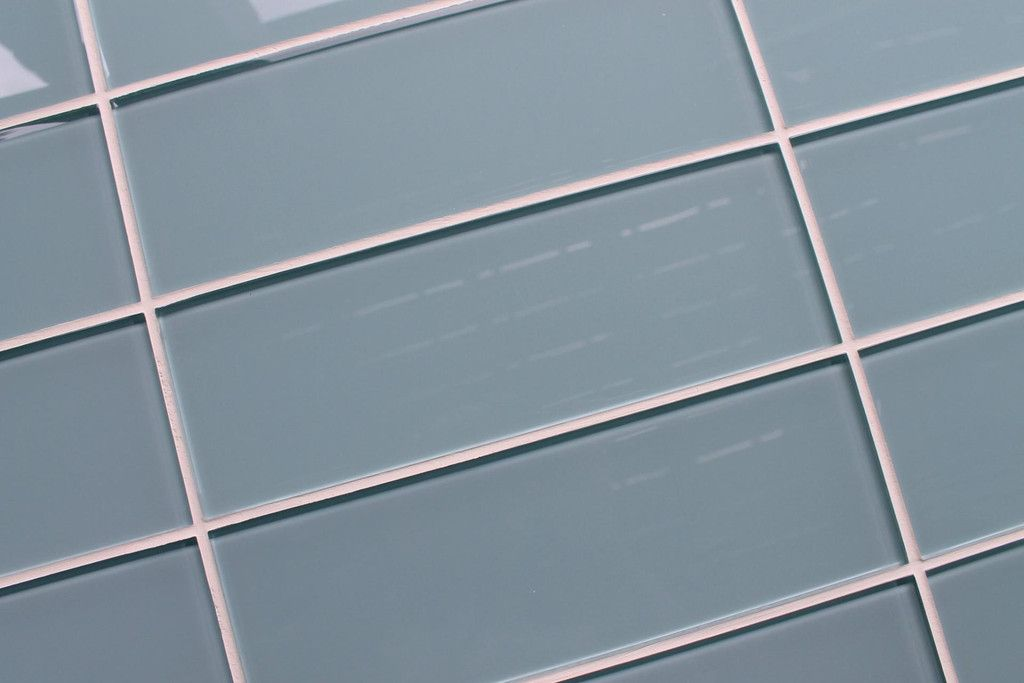 Jasper Blue Gray 4x12 Glass Subway Tiles | Rocky Point Tile - Online Glass Tile and Glass Mosaic Tile Store
