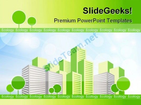 Green City Environment Powerpoint Templates And Powerpoint