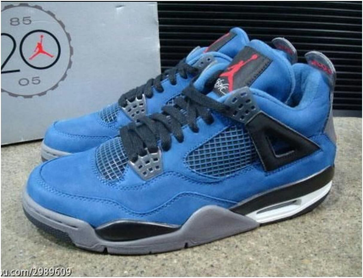 buy online 2393c 341c6 Air Jordan 4 Retro Suede Blue