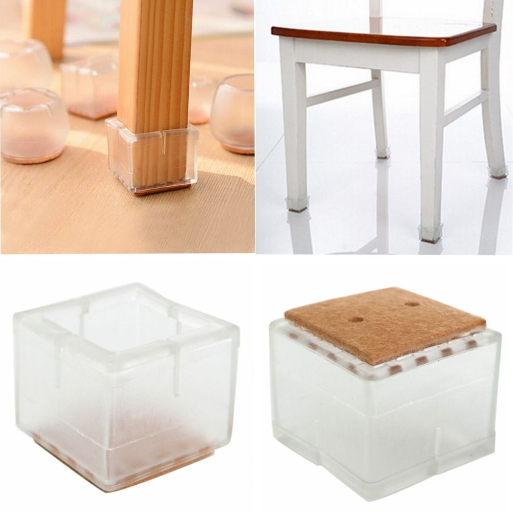 Dining Room Chair Leg Protectors Wedding Cover Hire In Gloucestershire 4pcs Large Square For 49 55mm Table Foot Protector Furniture Base Cap Antiskid Floor Protection Silencer No 17