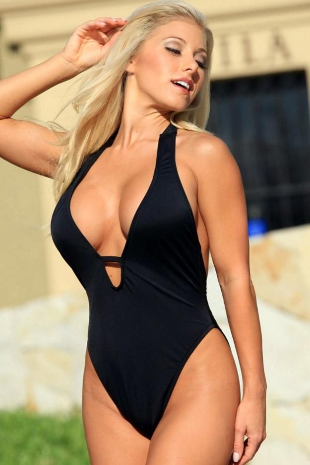 exquisite showy one piece swimsuit | sexy swim & beach wear