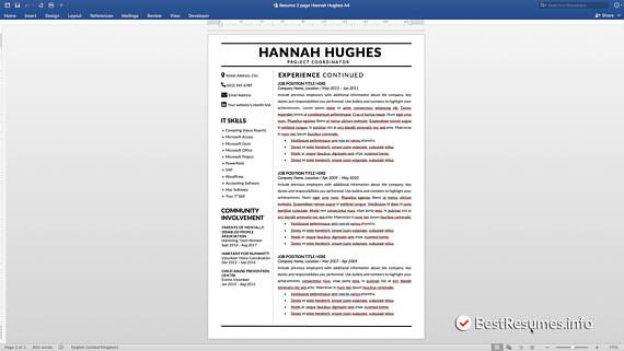 Modern Resume Template, Resume Template Word, Clean Resume Template ...