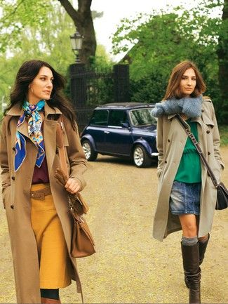 Damen trench coat mantel lang