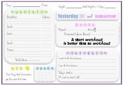Fitness Journal Template  Health    Fitness Journal