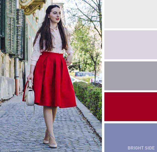 فن تنسيق الملابس هل تعرفين الأسماء الصحيحة لهذه الألوان Color Combos Outfit Colour Combinations Fashion Color Combinations For Clothes