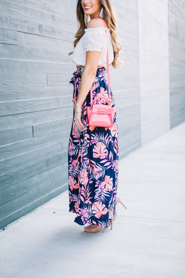 0d41941a2 The Perfect Vacation Outfit  Tropical Maxi Skirt