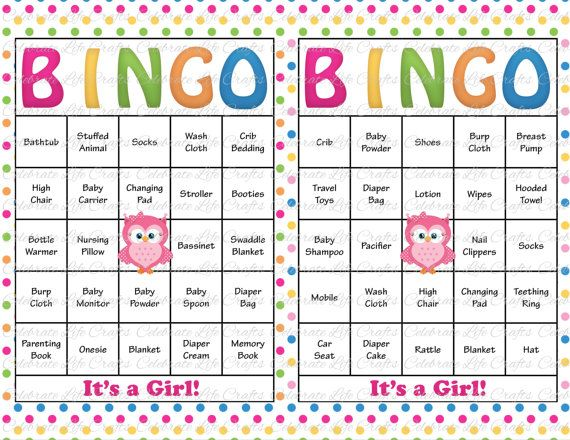 30 Baby Shower Bingo Cards Printable Baby Girl Instant Download
