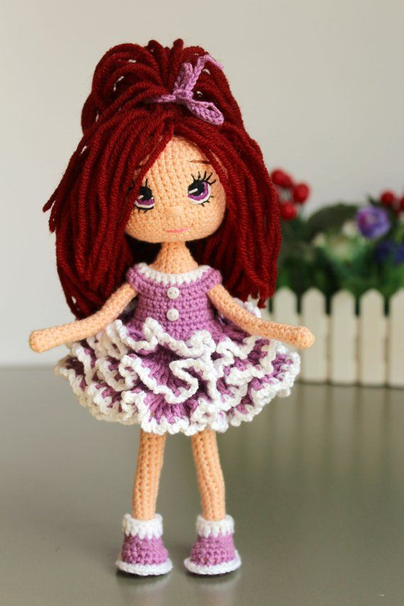 Pattern crochet doll Emilie Crochet frame doll Pattern Amigurumi Doll PDF collectible doll Crochet T #dollclothes