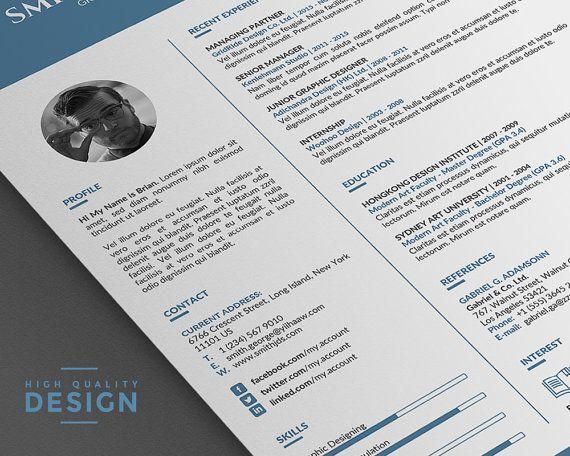 Simple Resume Template Professional Design Word Resume Template