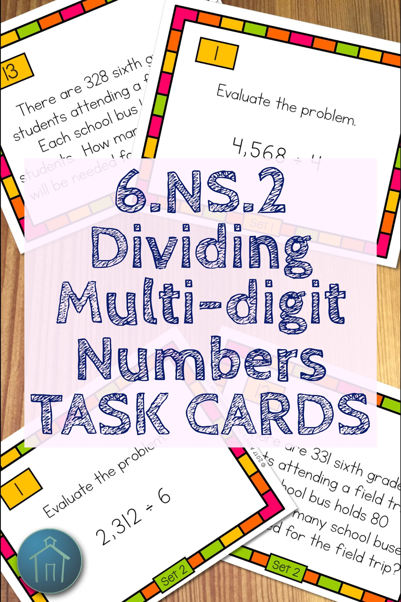 6 Ns 2 Dividing Multi Digit Numbers Task Cards
