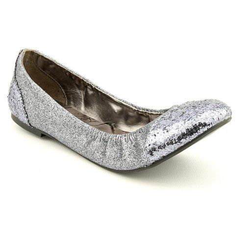8b6b2833c0b Material Girl Flick Womens Size 8 Silver Flats Shoes