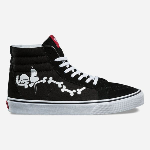 f44a1a8fb2b Vans X Peanuts Snoopy Bones Sk8-Hi Reissue Shoes ( 47) ❤ liked on Polyvore  featuring shoes