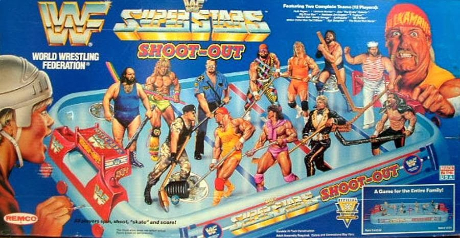 Lost Entertainment Board Games The Wwf Superstars Shootout Table