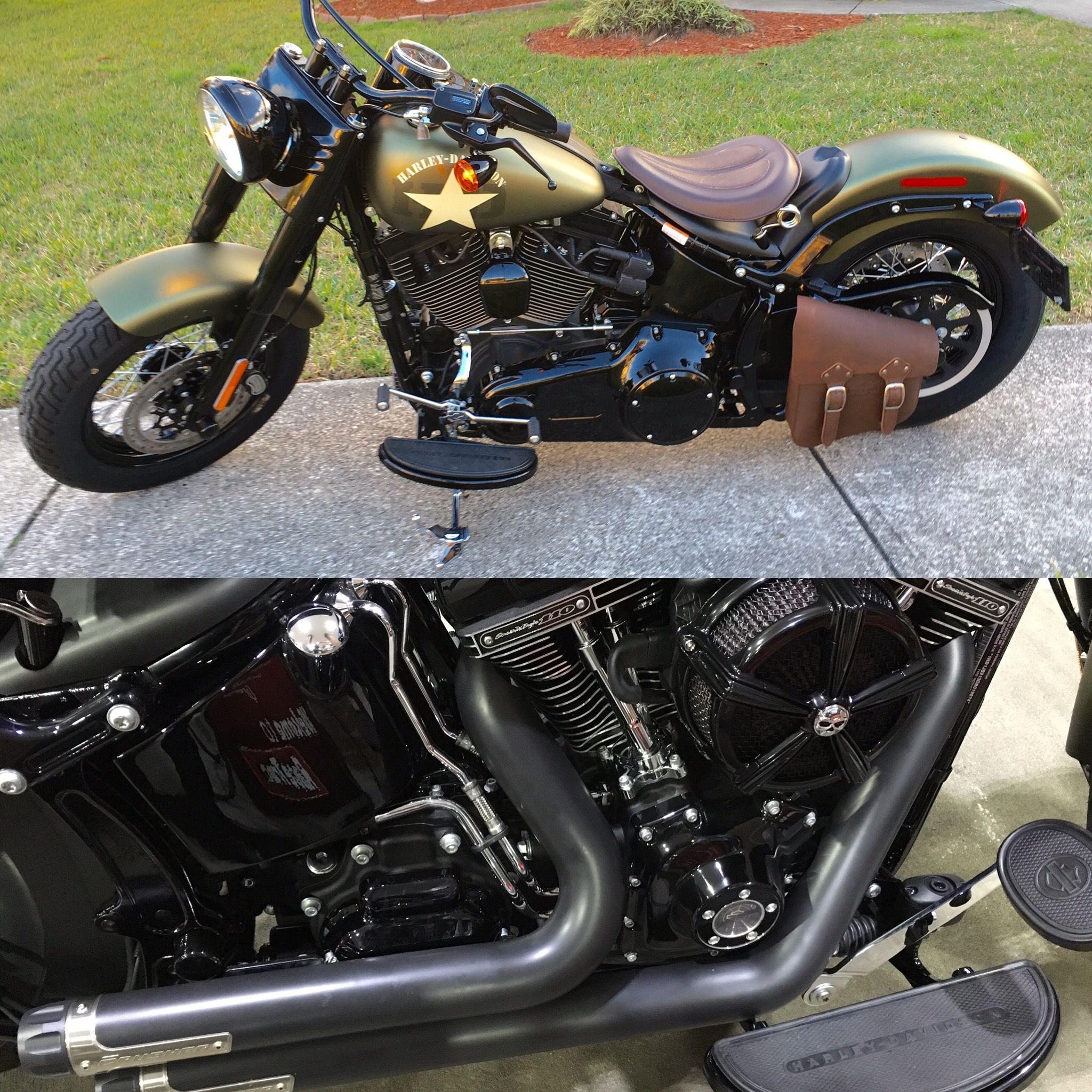 2016 Harley-Davidson FLSS Softail Slim S Custom 110 Screaming Eagle with Crusher Performance Maverick 2 exhaust & Mach 2 air cleaner.