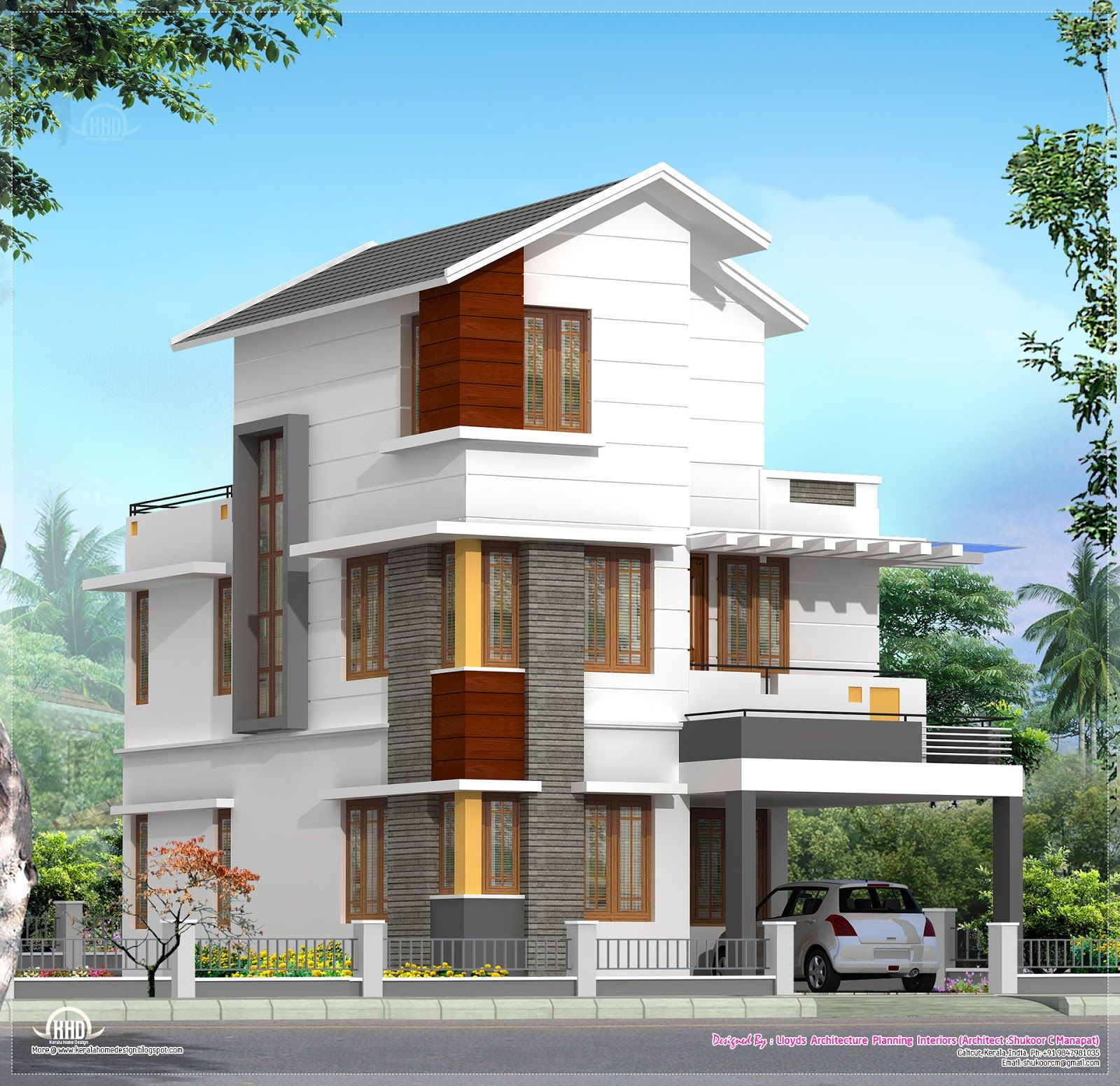 Kerala Model Home Plans: 4 Bedroom House Plan In Less Than 3 Cents In 2019