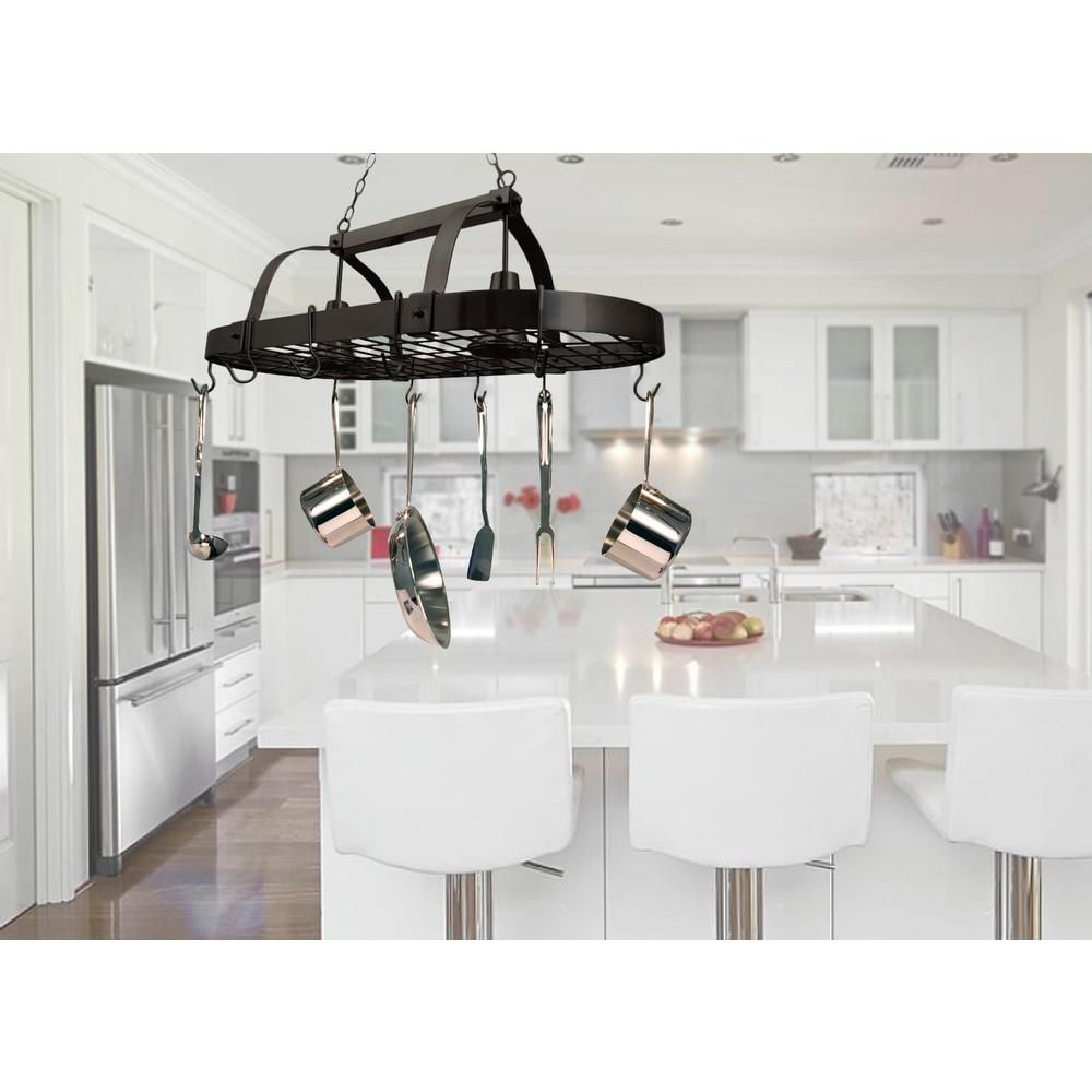 Small kitchen table and 2 chairs  Elegant Designs Light OilRubbed Bronze Kitchen Pot Rack Light