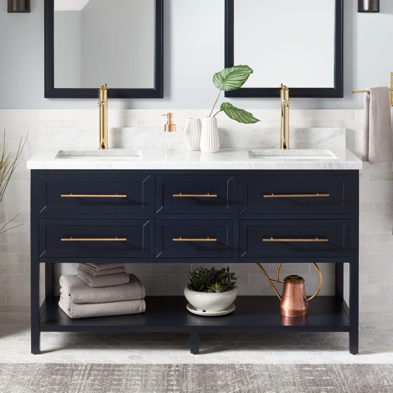 17 Best Bathroom Vanities Design Ideas For Keep Your Bathroom With Images Blue Bathroom Vanity Double Vanity Bathroom Undermount Sinks