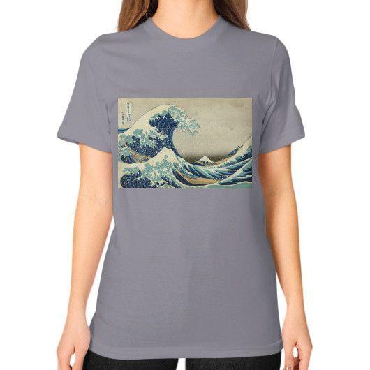 Thirty-six Views of Mount Fuji : The Great Wave off Kanagawa - Unisex T-Shirt (women) American Apparel Fine Jersey