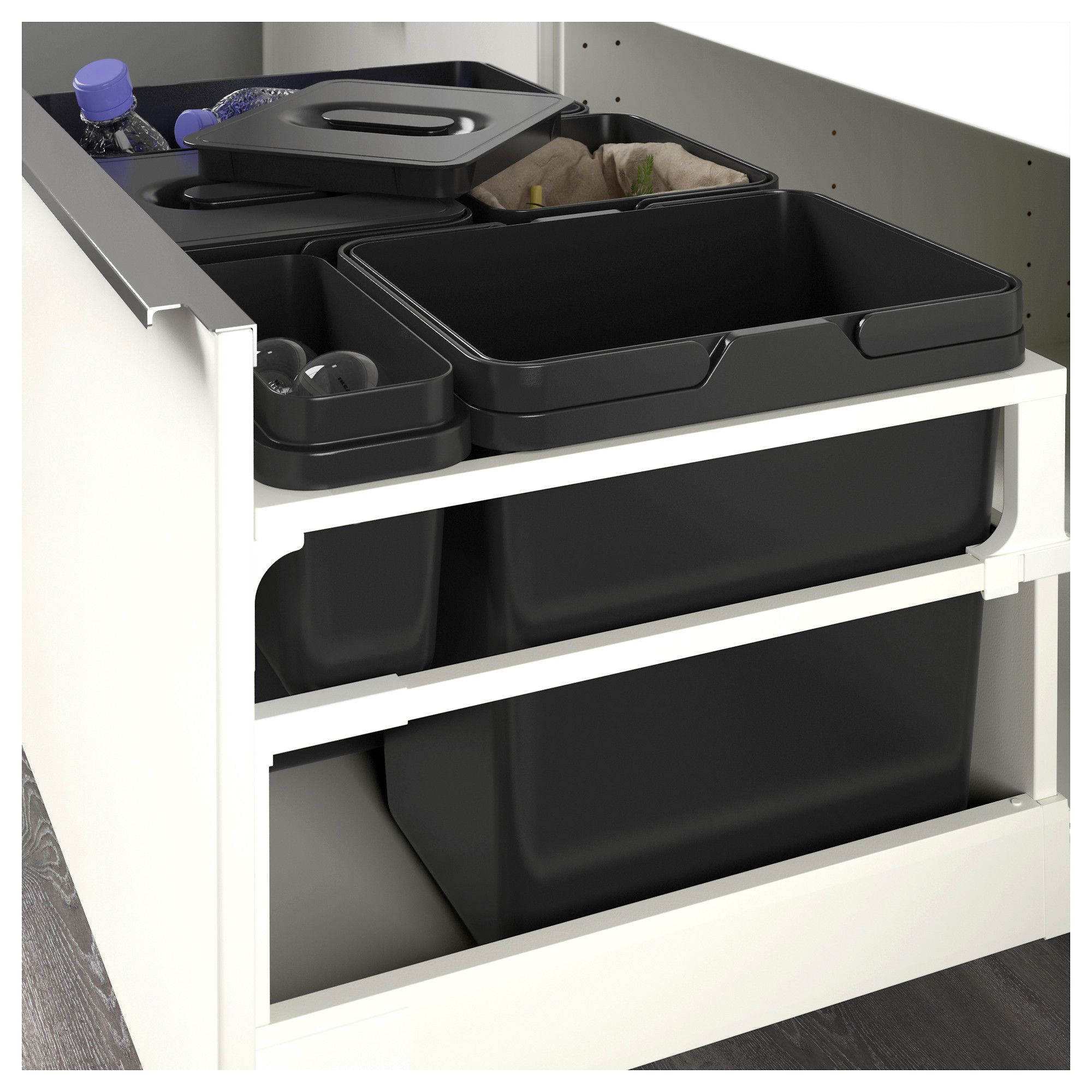 IKEA - VARIERA Recycling bin black  Recycling bins, Kitchen bin