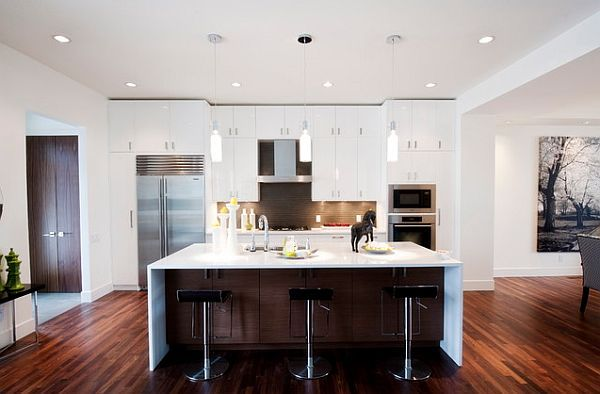 kitchen remodel 101 stunning ideas for your kitchen design houzz piano white contemporary - Modern White Kitchen Dark Floor