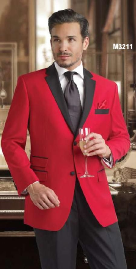 Men S Red And Black Suit Jacket Men Suit Shoes Black And Red Tux Tuxedo For Men