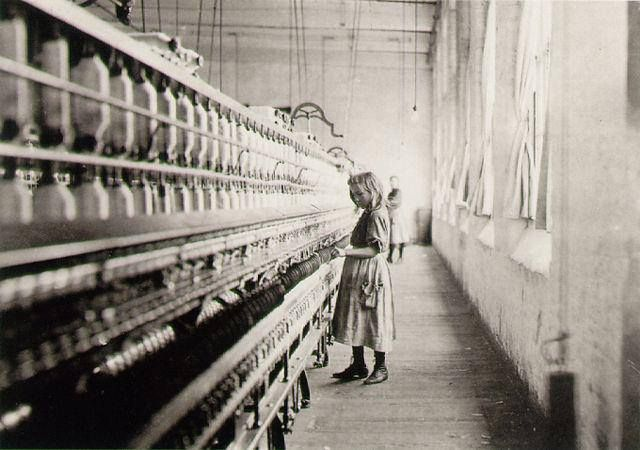 Factory worker, probably sometime around 1900 or earlier.