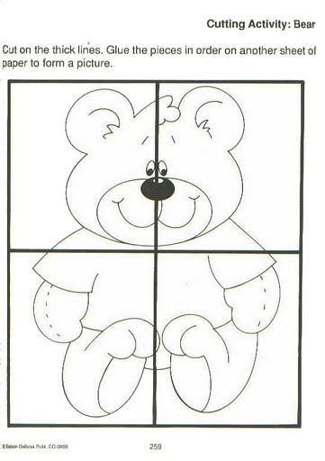 Easy Bear Puzzle Craft Crafts And Worksheets For Preschool Toddler And Kindergarten Preschool Puzzles Preschool Worksheets Puzzle Crafts