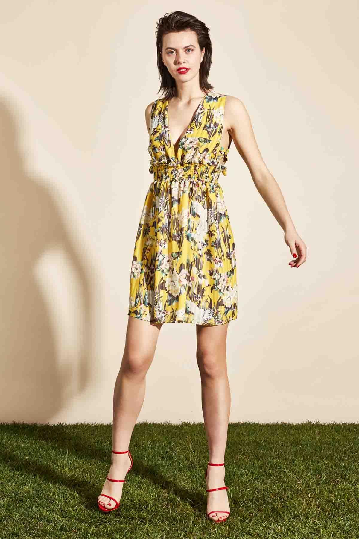¿Te gusta este  vestido floral amarillo de  Almagores  ¡¡Disponible c175d8b442cde
