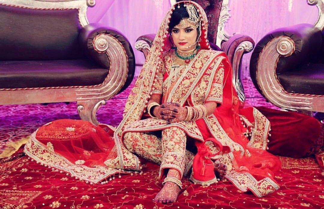 Khada Dupatta Hyderabad wedding bride | khadaduppatta & brides ...
